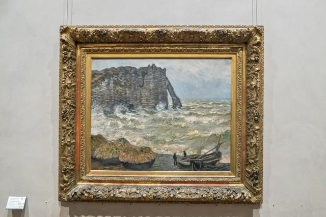 Mer agitée à Etretat, Claude Monet, 1883.  Jeu 21.05.2015, 15:05.