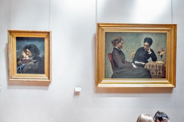 À g., Les Amants heureux, Gustave Courbet, 1844. À dr., La Lecture, Fantin La Tour, 1877. Jeu 21.05.2015, 15:17.