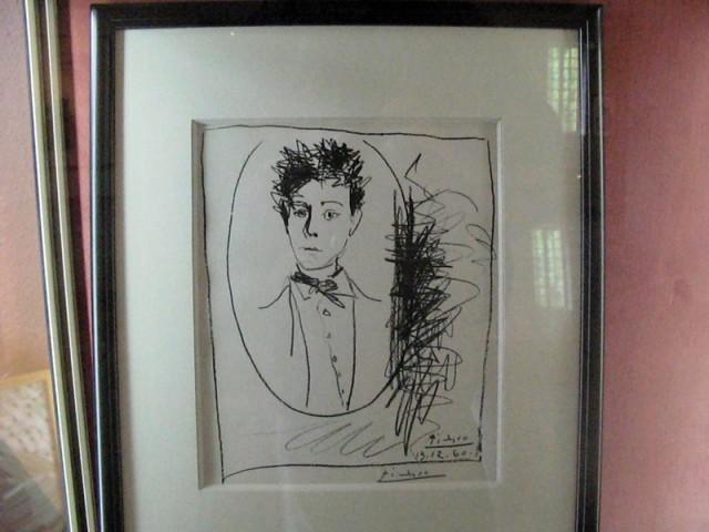 12/48. Musée Rimbaud. Arthur Rimbaud, lithographie de Pablo Picasso (13/12/1960). Mer 29.04.2009 - 10:15.