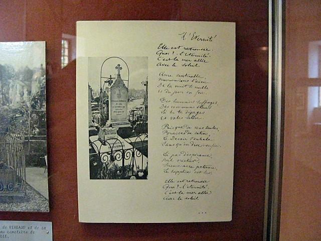 17/48. Manuscrit de L'Éternité et tombe d'Arthur Rimbaud à Charleville-Mézières. Mer 29.04.2009 - 10:28.