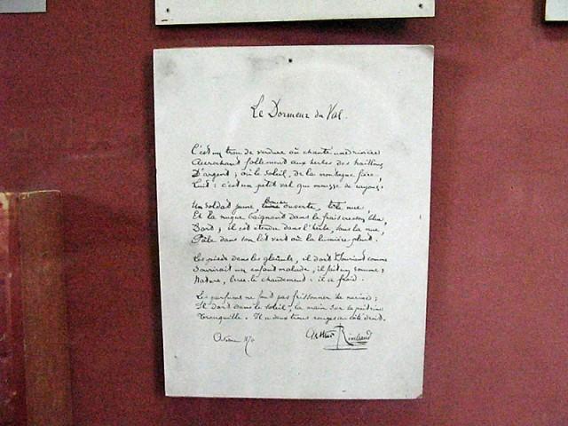 21/48. Musée Rimbaud. Manuscrit du Dormeur du Val. Mer 29.04.2009 - 10:42.