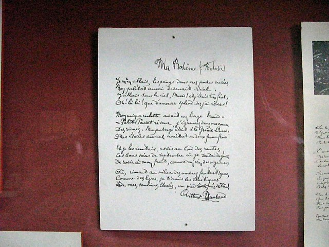 22/48. Musée Rimbaud. Manuscrit de Ma Bohème. Mer 29.04.2009 - 10:42.